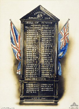Ashfield Bowling Club Roll of Honour  - click to enlarge view