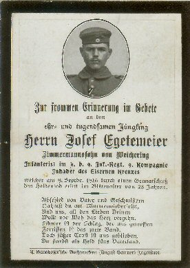 German Death Card - back - click to enlarge view